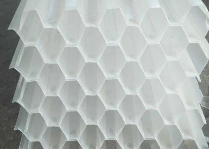 PP PVC Honeycomb Tube Saff Media / Lamella Media For Water Treatment White Color